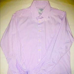 Charles Tyrwhitt, lilac & white check dress shirt.